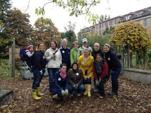 JLS Volunteers at Seattle Tilth's Demonstration Garden.